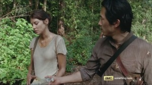 Them- Glenn offers Maggie some water
