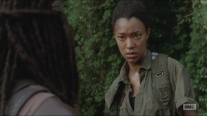 Them- Sasha's stare-off with Michonne