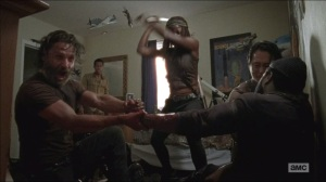 What Happened and What's Going On- Cutting off Tyreese's arm
