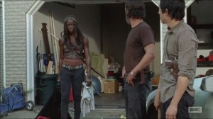 What Happened and What's Going On- Michonne tells Rick and Glenn that they need to stop