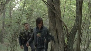 Conquer- Aaron tells Daryl about three exiled Alexandria members