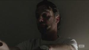 Conquer- Bandaged-up Rick wakes up before Michonne