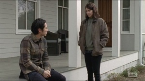 Conquer- Maggie tells Glenn that she's talking to other residents about Rick