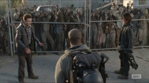 Conquer- Morgan rescues Aaron and Daryl