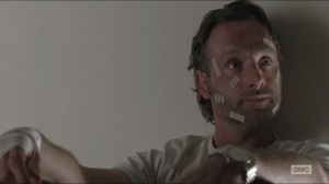 Conquer- Rick tells Michonne that they can and will talk to the Alexandria folks