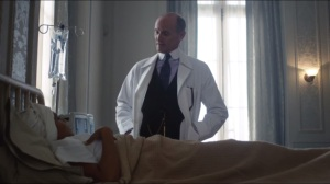 Everyone Has a Cobblepot- Fish is greeted by the Dollmaker, Dr. Francis Dulmacher, played by Colm Feore
