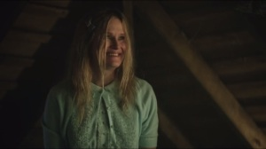Everyone Has a Cobblepot- Jim and Bullock find Miriam Loeb, played by Nicholle Tom, in the attic