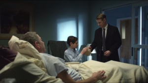 Everyone Has a Cobblepot- Jim visits Alfred and Bruce in the hospital