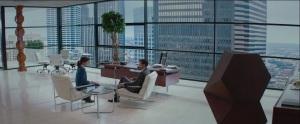 Fifty Shades of Grey- Anastasia Steele, played by Dakota Johnson, interviews Christian Grey, played by Jamie Dorman