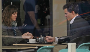 Fifty Shades of Grey- Christian and Anastasia get coffee