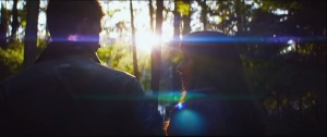 Fifty Shades of Grey- Christian and Anastasia walk through the woods as the trees clear a path for them