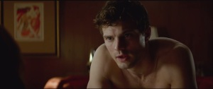 Fifty Shades of Grey- Christian gets on the bed with Anastasia