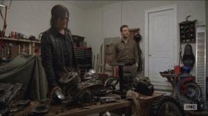 Forget- Aaron shows Daryl the workshop