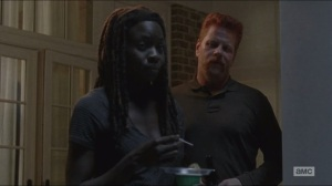 Forget- Abraham talks with Michonne