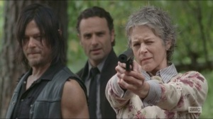 Forget- Carol shoots a walker