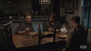 Forget- Daryl eats spaghetti with Aaron and Eric