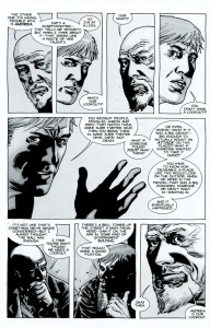 Forget- The Walking Dead #71- Rick suggests to Douglas that Andrea become the lookout
