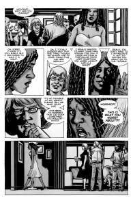 Forget- The Walking Dead #72, Comic book Michonne rages