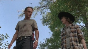 Remember- Carl and Rick bond over killing
