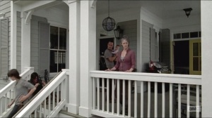 Remember- Carl, Daryl, Rick, and Carol at one of the homes