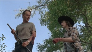 Remember- Carl wants the final kill