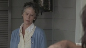 Remember- Carol tells Daryl to take a shower