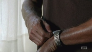Remember- Rick adjusts his watch