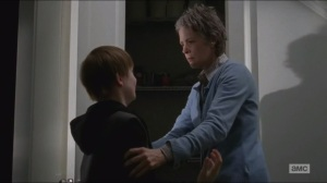 Spend- Carol finds Sam in the cupboard