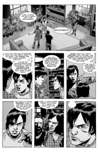 The Walking Dead #138- Carl and Maggie argue about Lydia