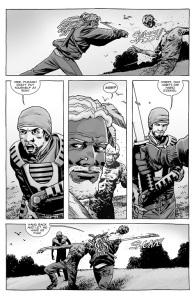 The Walking Dead #139- Ezekiel mows down roamers with Michonne's sword