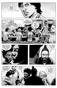 The Walking Dead #139- Maggie's reaction to Carl's disappearance