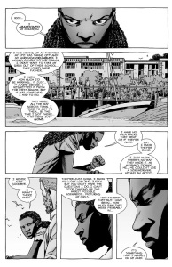 The Walking Dead #139- Michonne talks to Rick about her family
