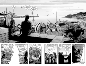 The Walking Dead #139- Rick tells Ezekiel that they're stockpiling ammunition
