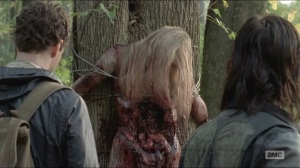 Try- Aaron and Daryl find a woman tied to a tree