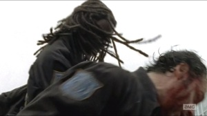 Try- Michonne knocks out Rick