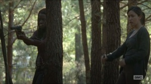 Try- Rosita and Michonne on their guard