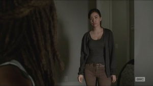 Try- Rosita fills Michonne in on Tara's condition