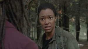Try- Sasha doesn't want Michonne or Rosita's help