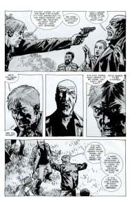 Try- The Walking Dead #75, Comic book Rick rants to Douglas