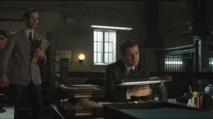 Beasts of Prey- Gordon and Bullock discuss the Fairchild investigation when Nygma approaches