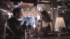 Beasts of Prey- Grace Fairchild, played by Willa Fitzgerald, on a date with Jason Lennon, played by Milo Ventimiglia