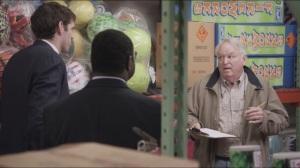 Data- Jonah and Richard speak with a salesman, played by Dakin Matthews