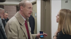 """Data- Mike tells Amy that Vice President Doyle will be walking out to """"Every Breath You Take"""" by The Police"""