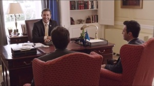 East Wing- Dan and Jonah speak with Congressman Owen Pierce, played by Paul Fitzgerald