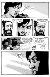 The Walking Dead #140- Maggie tells Jesus that Gregory has to die