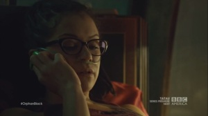 The Weight of This Combination- Cosima says that the clone can't depend on anyone but themselves