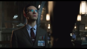 Under the Knife- Nygma confronts Officer Dougherty with a riddle about love