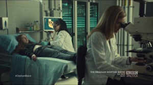Certain Agony of the Battlefield- Delphine and Cosima examine Gracie