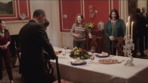 Mommy Meyer- Dinner with friends, Anna, played by Suzy Nakamura, Deborah, played by Mo Gaffney, and Patricia Kalembar