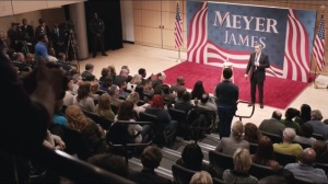 Mommy Meyer- Tom James' town hall, question on gun control